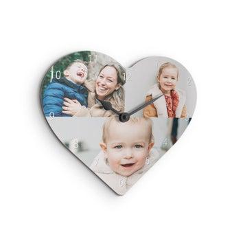 Wandklok hartvormig