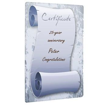 Certifikat (upphängningsblock)
