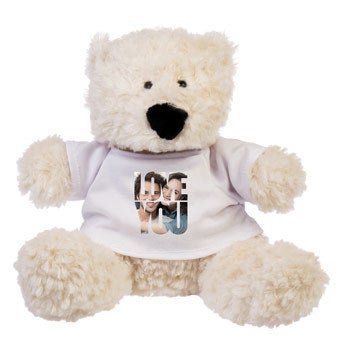 Personalised cuddly toy with photo - Bobby Bear