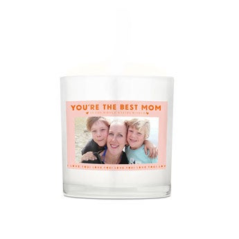 Sviečka Deň matiek v skle - 8 x 9 x 9 cm