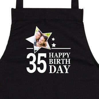 Avental de aniversário