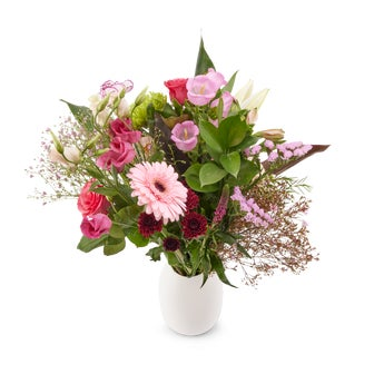 Bouquet de fleurs roses - Large