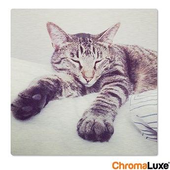 Chromaluxe Aluminium photo - Brushed - 15x15cm
