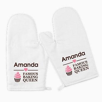 Paire de gant de cuisine personnalisés
