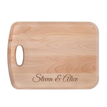 Drewniana deska do krojenia - L