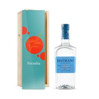 Hayman 's gin v gravírováním krabici