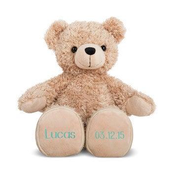 Niedźwiedź urodzinowy z imieniem