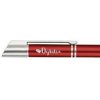 Viva Pens - Tess - Balpen graveren - Links (Oranje/rood)