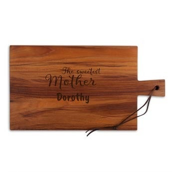 Mother's Day breadboard - Teak