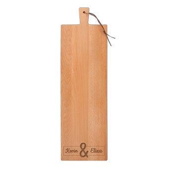 Serveringsplatte i træ – Bøgetræ – Aflangt – Lodret (L)