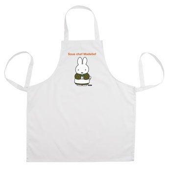 Delantal de cocina miffy - Blanco