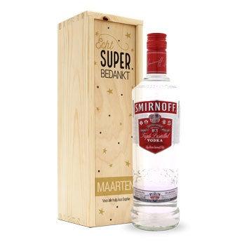 Smirnoff vodka - In bedrukte kist
