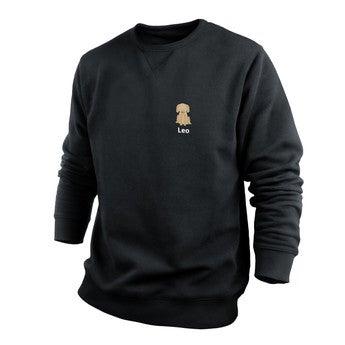 Egyéni pulóver - Férfi - Fekete - L