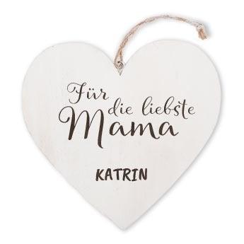 Muttertag - Holzherz mit Gravur