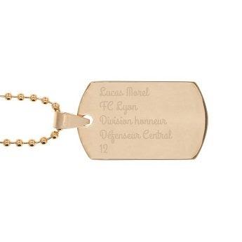 Plaque militaire - Dog tag