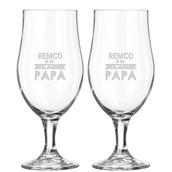 Vaderdag bierglazen set