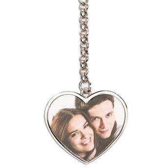Schlüsselanhänger mit Foto beidseitig - Herz