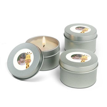 Velas personalizadas en lata