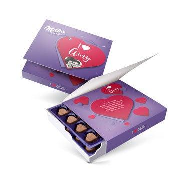 Řekněte to s dárkovou krabičkou Milka - Love (220 gramů)