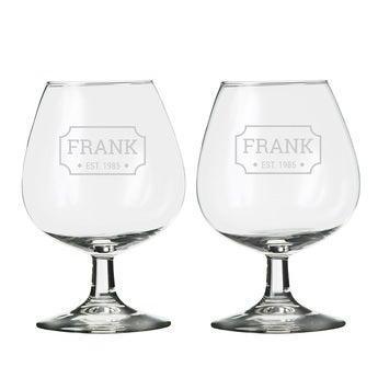 Personlig cognacglas (2 stykker)