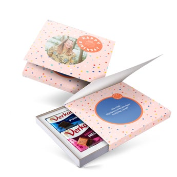 Coffret chocolat Verkade personnalisé - 2 tablettes