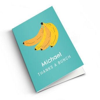 Cartão de agradecimento foto - M - Vertical