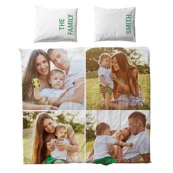 Personligt sengetøj – bomuld – 200 x 200 cm