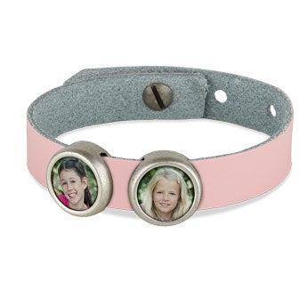 Photo charm bracelet - Pink - 2 photos