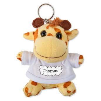 Personalised plush key ring - Photo - Giraffe