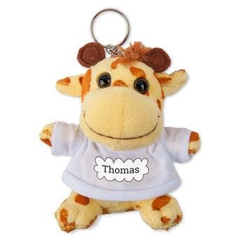 Personalised plush key ring - Photo - Giraffe