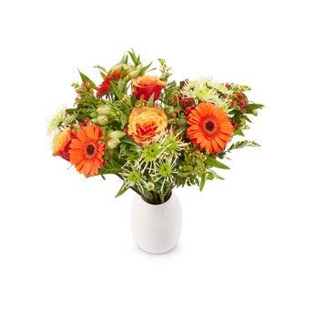 Boeket met oranje bloemen