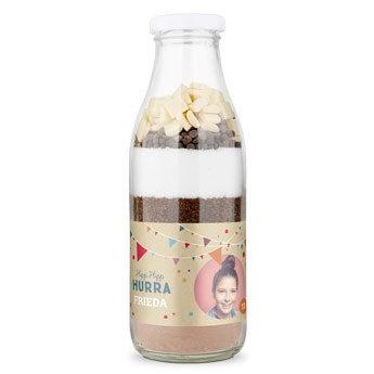 Backmischung im Glas - Brownie