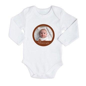 Baby Body - Langarm - Weiß - 50/56