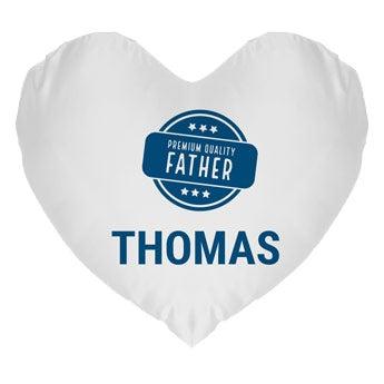 Coussin Fête des Pères - Coeur