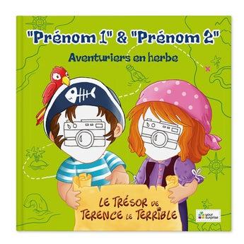 Livre de pirate - Jack & Madie - 2 personnages (couverture rigide)