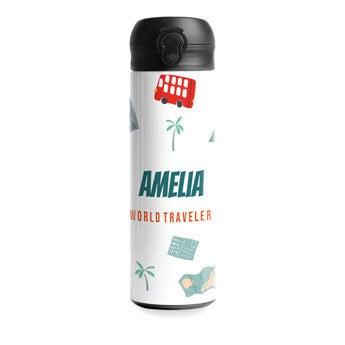 Luksuriøs vandflaske med drikketud – Hvid