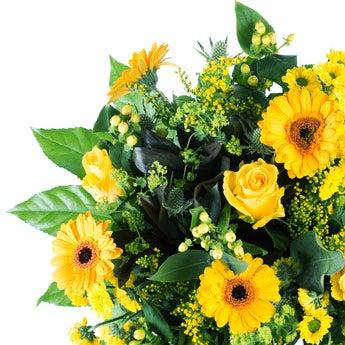 Boeket gele bloemen