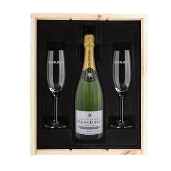 Champagne with photo