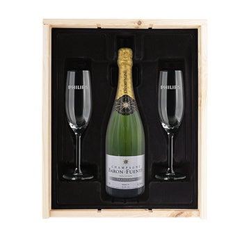 Champagnepakketten met glazen