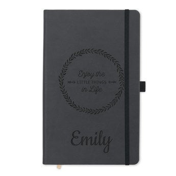 Notebook with name