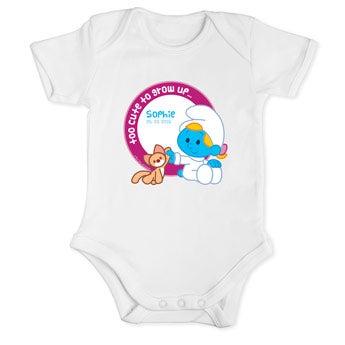 Smurfer baby bodysuit