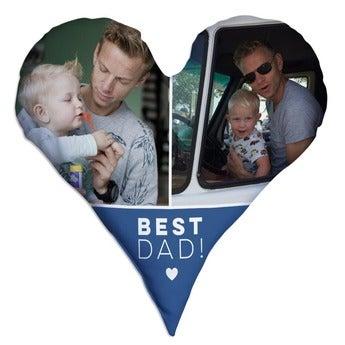 Vaderdag kussen hart volledig bedrukt