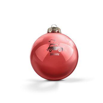 Bolas de Navidad grabadas