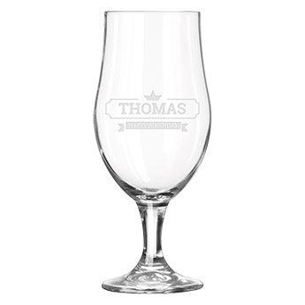 Glasen med gravering