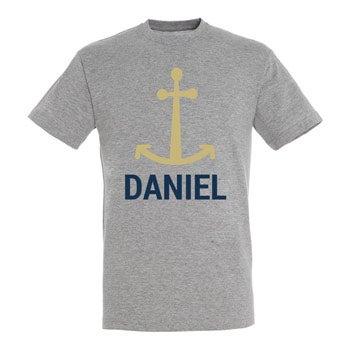 T-Shirt Herren - Grau meliert