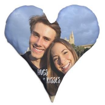 Srdce foto polštář - Plně vytištěno