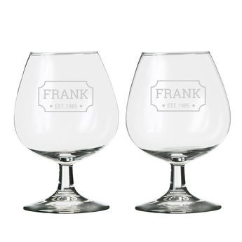 Grawerowane szklaneczki na koniak