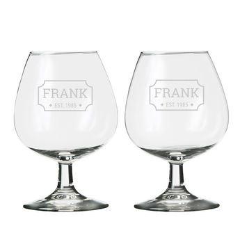 Prispôsobené brandy sklo