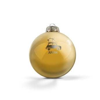 Üveg karácsonyi baubles - arany