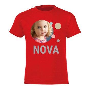 Kinder T-shirt - Rood